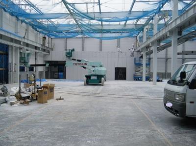 小牧の工場建替え、ALCの建込