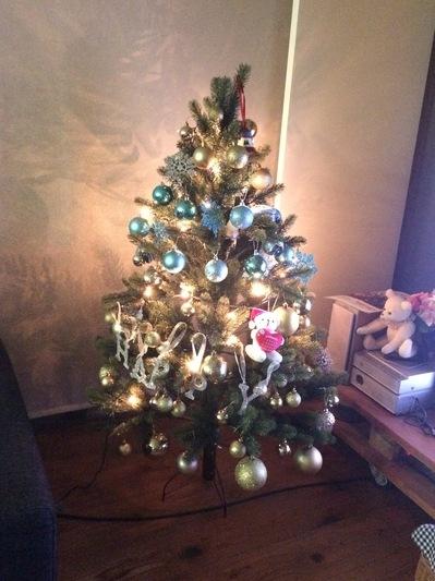うちのクリスマスツリーとリース、2017