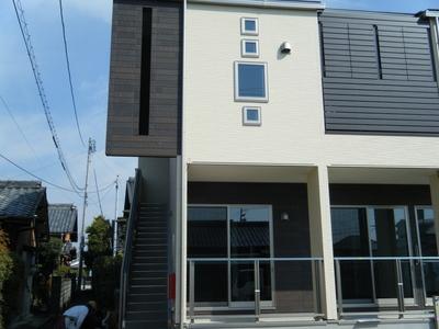 一宮市の共同住宅、竣工前