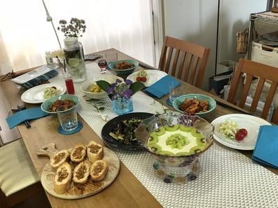 夏、手作りランチ、テーブルコーディネート、うちカフェ