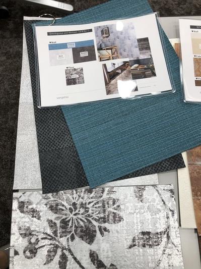 お部屋のコーディネート サンゲツ名古屋 内装 色 グリーン ブルー