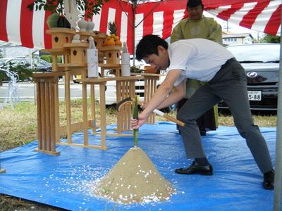江南市 社労士事務所の地鎮祭 建築設計