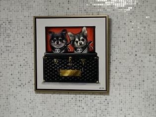 名古屋市瑞穂区、リフォーム、2世帯住宅、白を基調、愛犬の絵